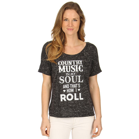 Katydid Country Music in My Soul and That's How I Roll Women's T-Shirt