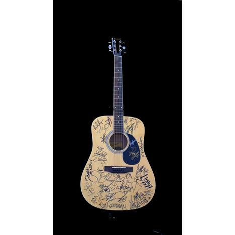 Country Jam Festival Autographed Guitar From Taste of Country Benefiting St. Jude