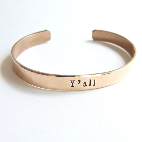 Y'all Brass Cuff