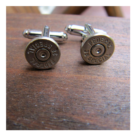 .38 Caliber Bullet Cuff Links