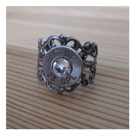 .38 Special Bullet Ring With Gunmetal