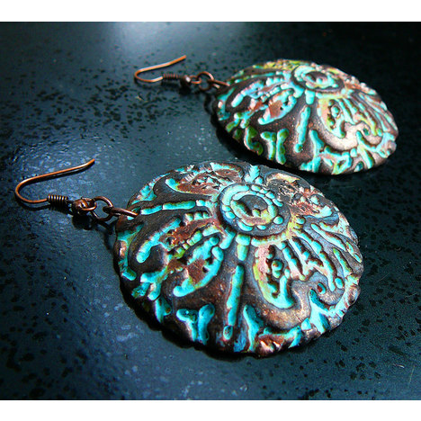 Distressed Polymer Clay Earrings
