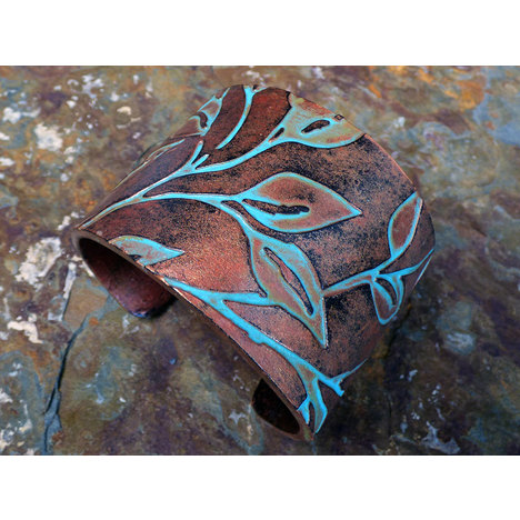 Beautiful Laurel Polymer Clay Cuff