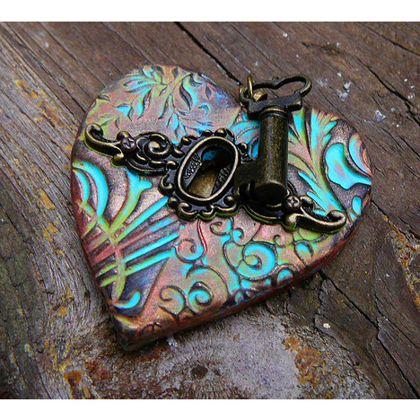 The Key to My Heart Pendant With Patina