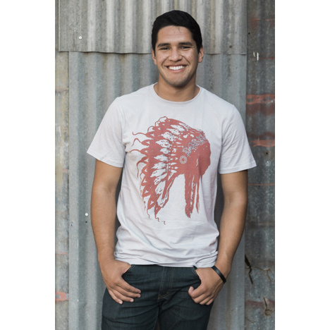 White American Born Chief Head T-Shirt