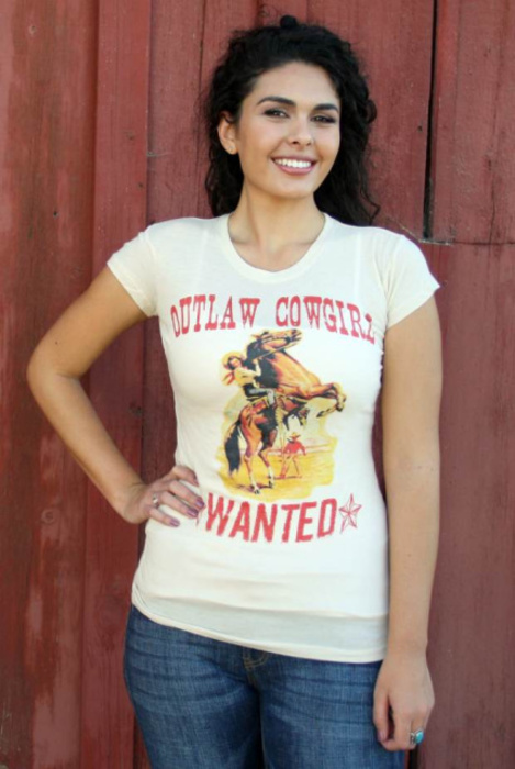 Outlaw Cowgirl S Wanted T Shirt Taste Of Country Store