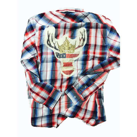 USA Deer Plaid Shirt