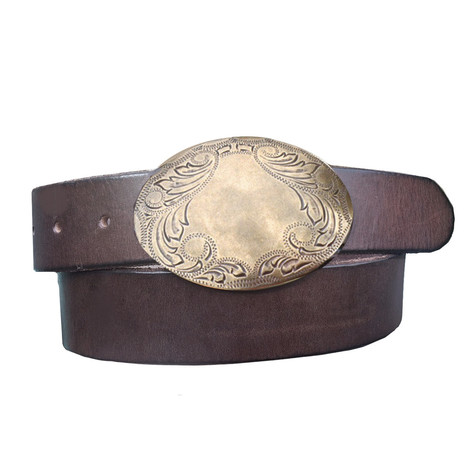 Charley Belt With Gold Buckle
