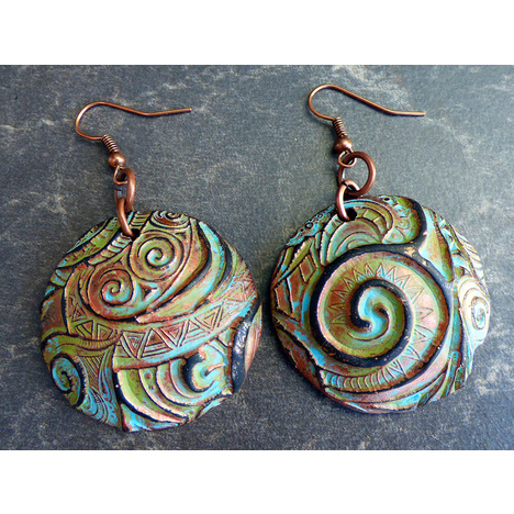 Swirls Polymer Clay Earrings