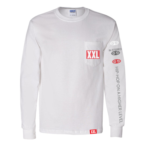 305113dda XXL Logo Pocket Long Sleeve T-Shirt - White – XXL Mag Shop