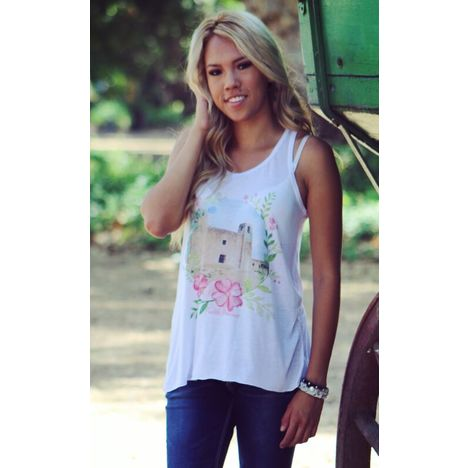Pueblo Princess Flowy Tank Top
