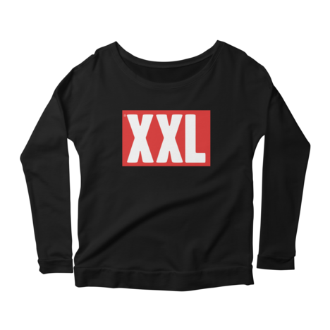 Women's XXL Logo Scoop Neck Long Sleeve T-Shirt