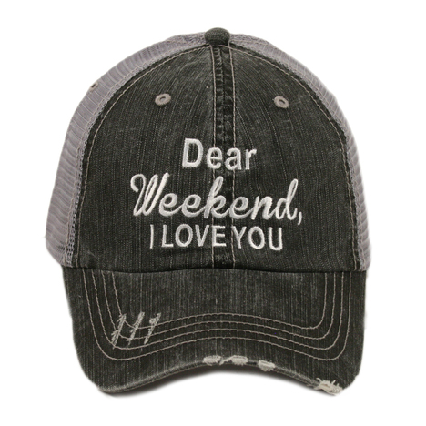 Katydid Dear Weekend, I Love You Women's Trucker Hat