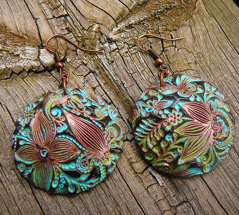 Doodle Flowers Polymer Clay Earrings