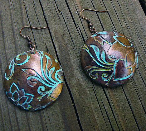 Flower Maze Polymer Clay Earrings
