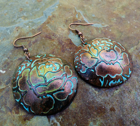 Rosebuds Polymer Clay Earrings