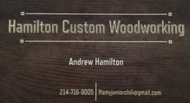 Hamilton Custom Woodworking Brand Logo